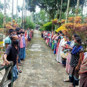 Ration Distribution for daily wagers at Bijoypur – III, Changlang, Arunachal Pradesh